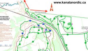 Map showing Watts Creek pathway