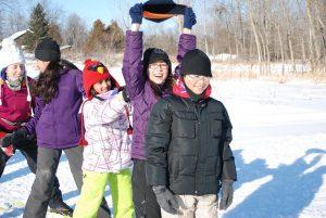 kids having fun on snow