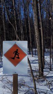 snowshoe trail signage